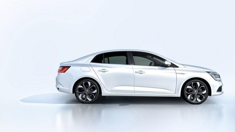 التصميم الجانبي للسيارة رينو ميجان 2017 سيدان