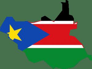 علم جنوب السودان خريطة