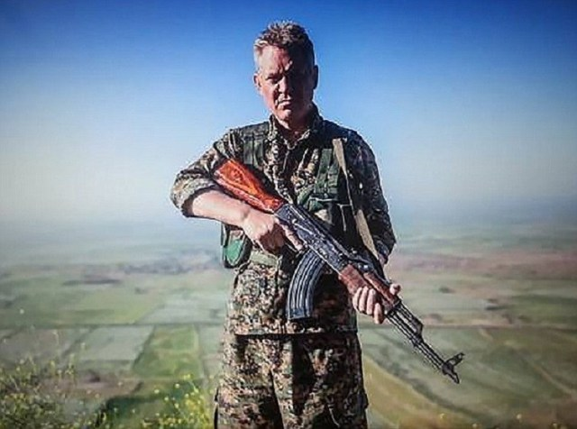 Michael Enright, an actor from Manchester who has made a career in Hollywood, is supposedly fighting ISIS in Syria. **Images taken from his FaceBook page, supplied to the Picture Desk by MOS News desk, from journalist Reinhard Keck**