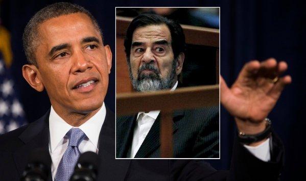 اوباما و صدام