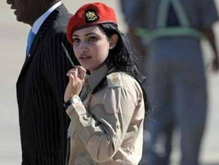 حارسة القذافي