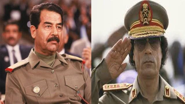 صدام حسين والقذافي
