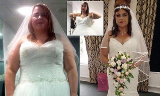 عروس تخسر 50 كيلو من وزنها