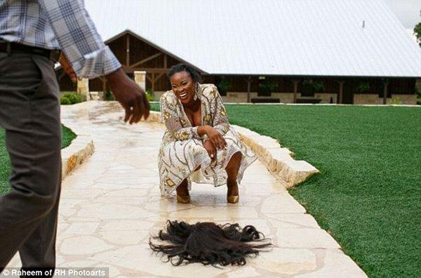 فتاة تتعرض لموقف محرج خلال جلسة تصوير زفافها4