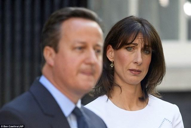 دموع زوجة «كاميرون» بعد إعلان خروج بريطانيا من الاتحاد الأوروبي