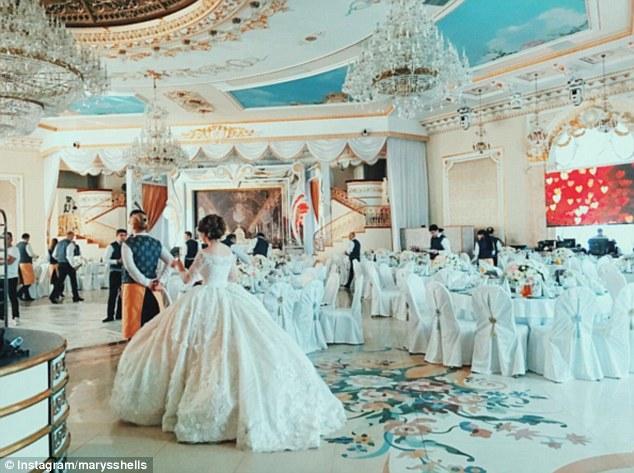 حفل زفاف أسطورى لمصممة أزياء روسية بموسكو1