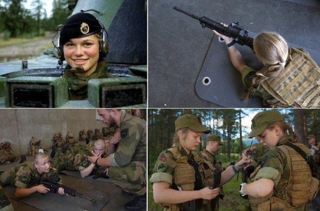 مجندات الجيش النرويجي تنام في مكان واحد مع الجنود1