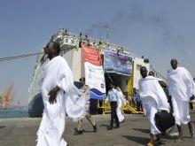 عودة (10) آلاف حاج عبر ميناء عثمان دقنة