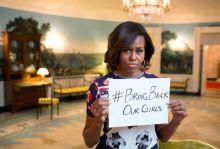 ميشيل أوباما غاضبة من اختطاف الفتيات النيجيريات