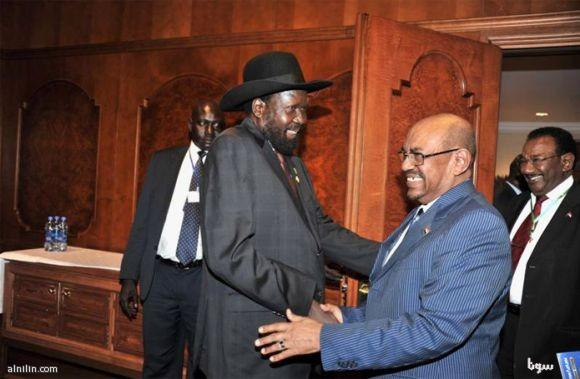 قمة بين البشير وسلفاكير في اثيوبيا تناقش دعم الحركات المتمردة وقضية أبيي وانسياب البترول - مايو 2013م