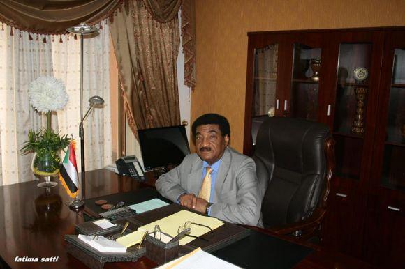 السفير عبد المحمود عبد الحليم يتولى مهام عمله بسفارة السودان بالقاهرة- اغسطس 2014