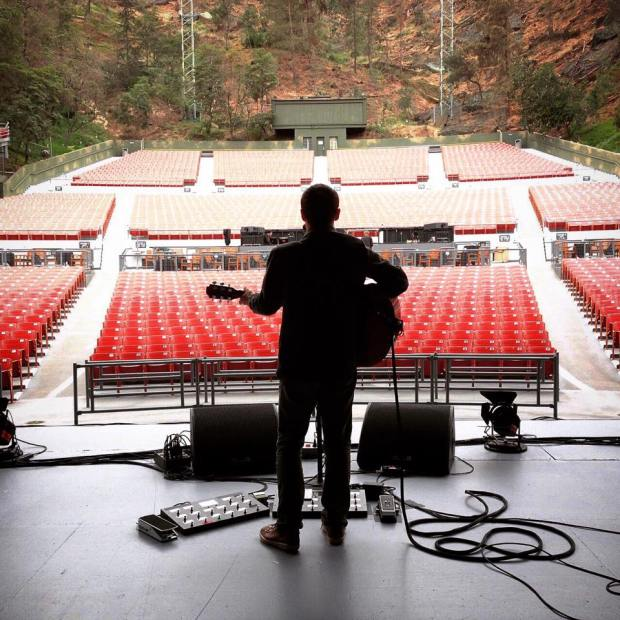 Greek Theatre Soundcheck. (From Damien Rice's Instagram.)
