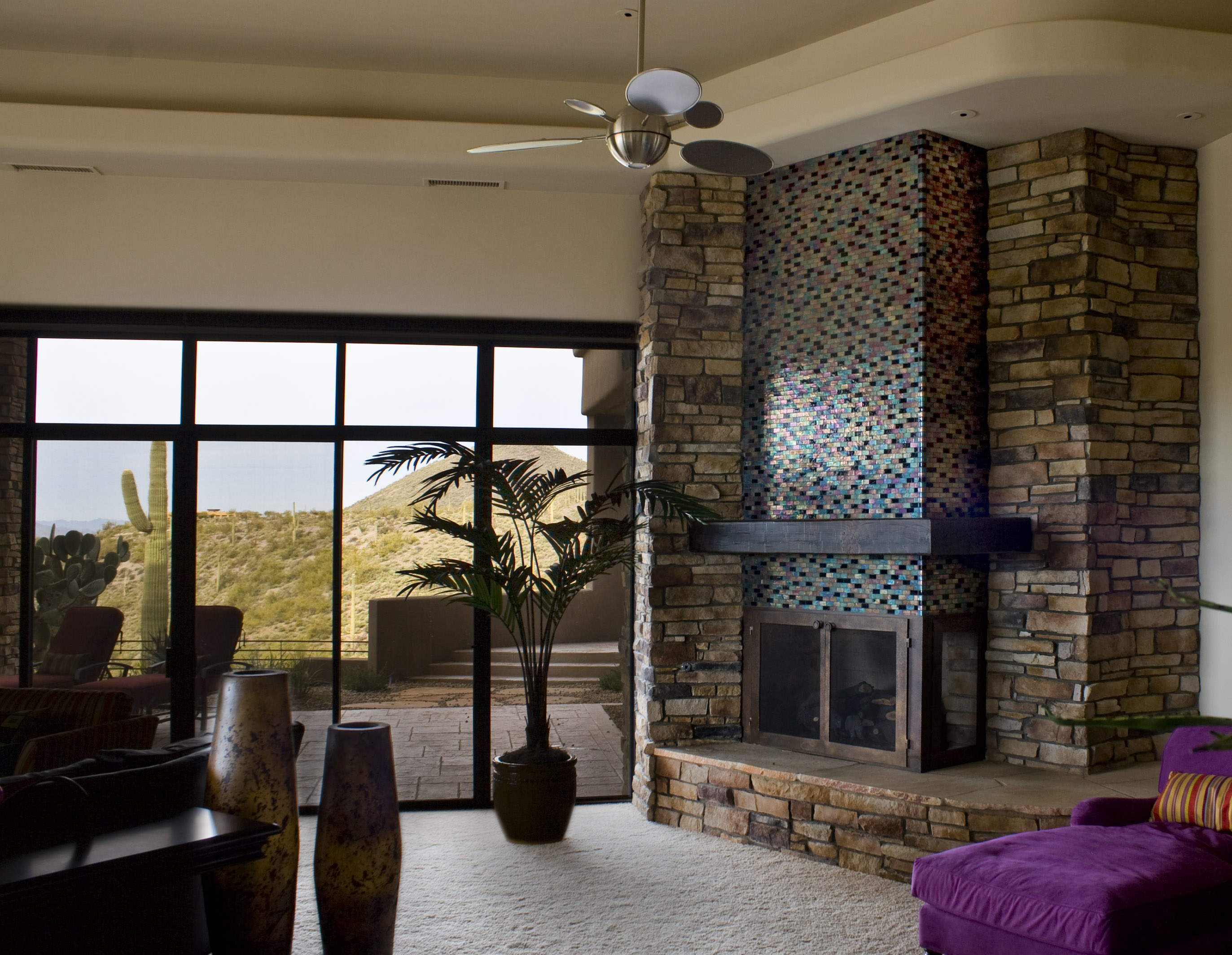 mosaic accent fireplace wall alpentile glass tile pools and spas
