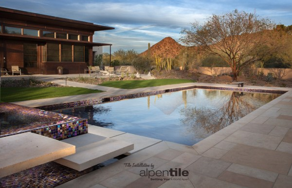 Glass Mosaic Pool / Spa