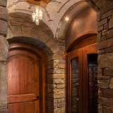 Stone/Glass mosaic mural for wine vault