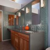 Porcelain and Glass Modern Bath