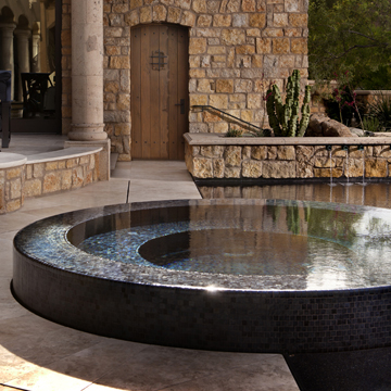 Black Metallic pool tile