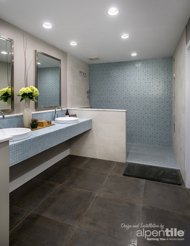 Design trends in tile and mosaics : Alpentile Glass Tile Pools and Spas