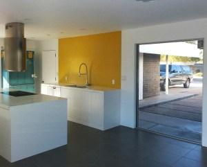 bright backsplash tile