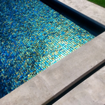 sapphire blue glass mosaic