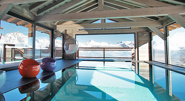 chalet with pool