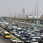 Heavy traffic on Sheikh Zayed road in Dubai