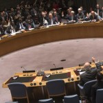 Members of the United Nations Security Council vote unanimously to approve a resolution eradicating Syria's chemical arsenal during the 68th UN General Assembly in New York