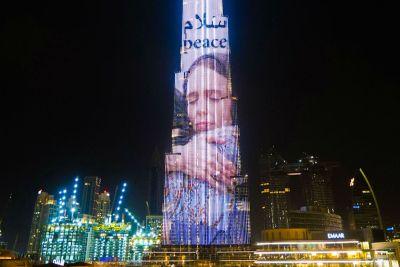 Burj Khalifa illuminated with image of New Zealand's Jacinda Ardern following far right terror ...