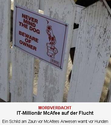 Never mind the dog - Beware of Owner (c) dpa