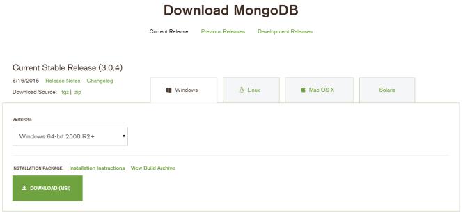 Download MongoDB