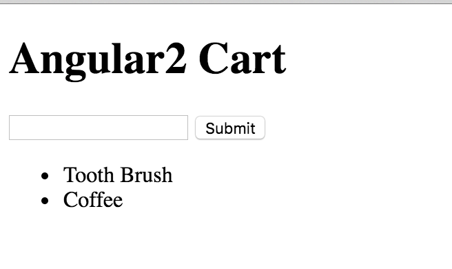 Angular2 Cart