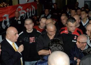 AC Milan-Boss Adriano Galliani auf der Weihnachtsfeier der Milan Ultràs
