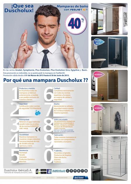 Promoción mamparas DUSCHOLUX en El Vendrell