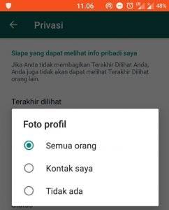 Fitur Baru WhatsApp Pengaturan Pemirsa Gambar Profil