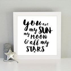 Brilliant All My Stars Framed Art Print You Are My Sun My Moon French You Are My Sun My Moon Stars Stars Tattoo My Moon All My Stars Framed Art Print Always My Moon inspiration My Moon And Stars