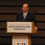 His Highness the Aga Khan delivering the 10th Annual LaFontaine-Baldwin Lecture