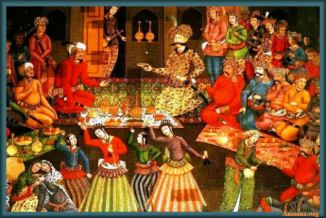 Shah Abbas I receiving Vali Muhammad Khan of Bukhara, Chehel Sotun, Isfahan1657