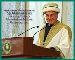 Aga Khan delivers Convocation address AKU 2013