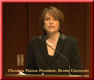 Christina Paxson, President, Brown University