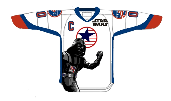 Star Wars, maglie speciali per Usa Hockey