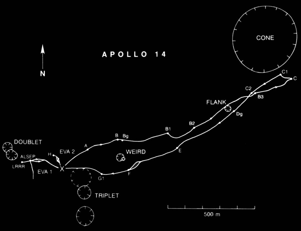 The Apollo 14 landing site.