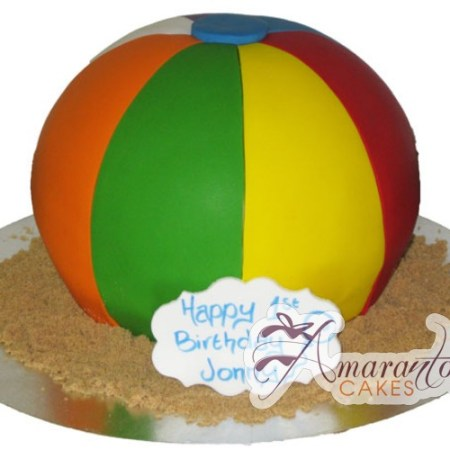 3D Beach ball - NC246 - Birthday Cakes Melbourne