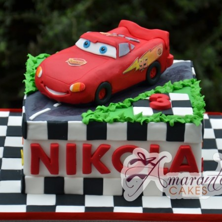Base Lighting McQueen Cake - Amarantos Designer Cakes Melbourne
