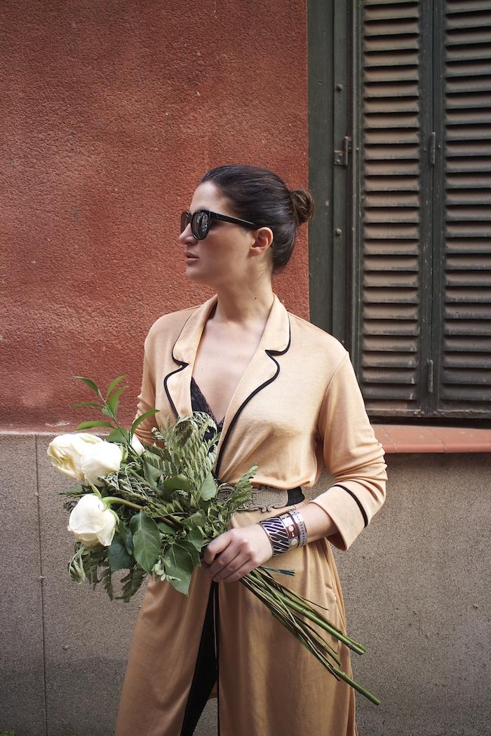 embajadora The Rubz pulseras bata Zara Paula Fraile amaras la moda flores6