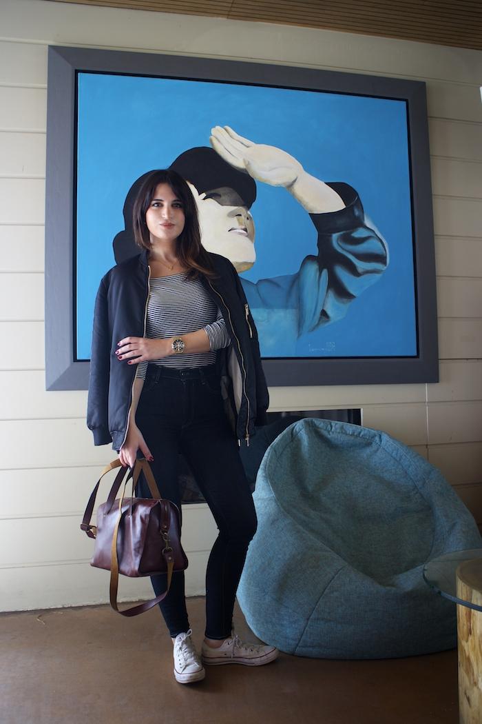 paula fraile amaras la moda jeans levis bolso la redoute converse bomber3