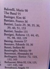 """Indice dei nomi, alla B, del libro di Scanzi """"Non è tempo per noi"""""""