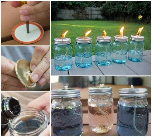 These Mason Jar Candles Would Look Lovely on a Winter Bonfire 1