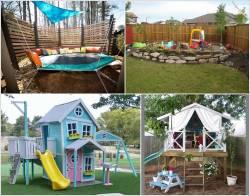 Aweinspiring Kids A Backyard Play Area Super Ideas Kids Backyard Designed A Backyard Play Area Backyard Design Super Ideas