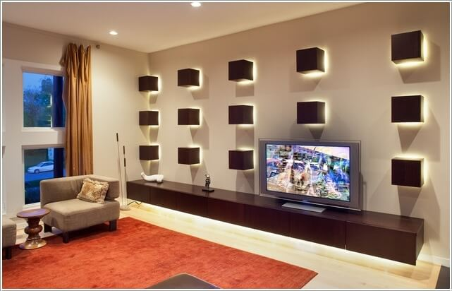 Design an Interesting and Chic TV Wall 8
