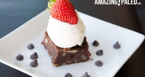 Paleo Dark Chocolate Chip Brownies